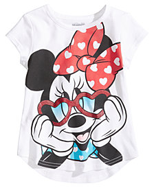 Disney® Heart Glasses Minnie Mouse Cotton T-Shirt, Little Girls