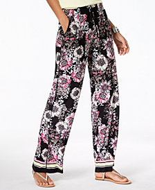 I.N.C. Petite Printed Wide-Leg Pants, Created for Macy's