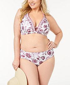Becca ETC Plus Size Tahiti Cross-Back Bikini Top & Reversible Bottoms