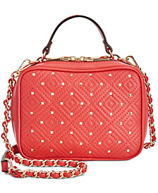 I.N.C. Quiin Quilt Top Handle Chain Crossbody, Created for Macy's
