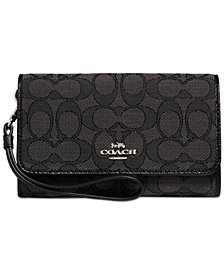 COACH Signature Boxed Phone Wristlet