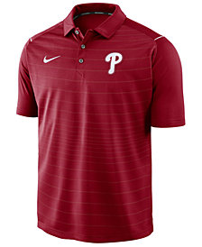 Nike Men's Philadelphia Phillies Stripe Polo