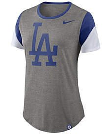 Nike Women's Los Angeles Dodgers Tri-Blend Crew T-Shirt