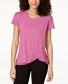 Ideology Knot-Front T-Shirt, Created for Macy's