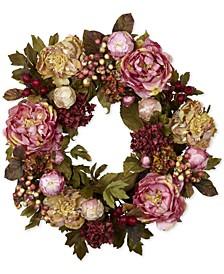 """24"""" Peony & Hydrangea Wreath"""