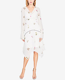 RACHEL Rachel Roy Clip-Dot Floral Chiffon Dress