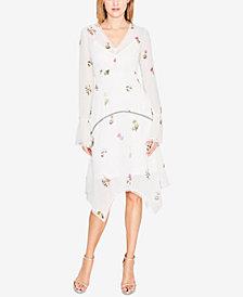 RACHEL Rachel Roy Clip-Dot Floral Chiffon Dress