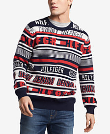 Tommy Hilfiger Denim Men's Stripe Logo Sweater, Created for Macy's