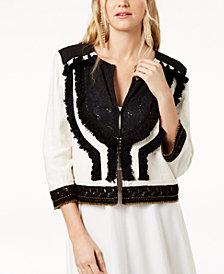 Rachel Zoe Alissa Embellished Fringe Jacket