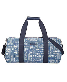 Tommy Hilfiger Printed Denim Duffel Bag