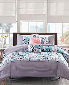 Delle 5-Pc. Full/Queen Reversible Comforter Set