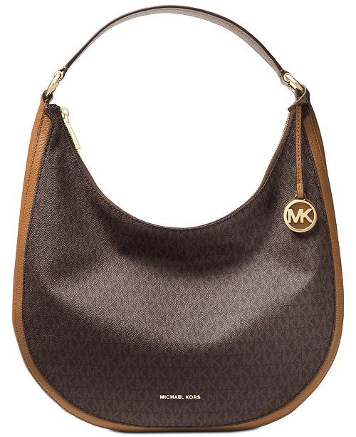8148dbc714d8 Michael Kors Lydia Large Signature Hobo & Reviews - Handbags ...