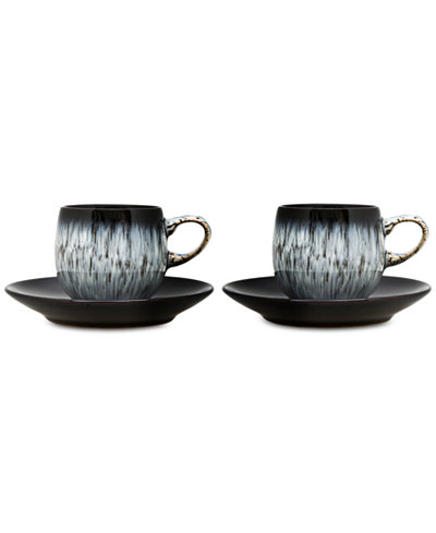 Denby Halo 4-Pc. Espresso Cup and Saucer Set