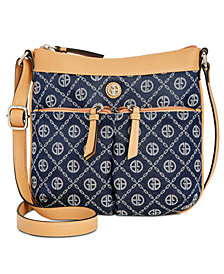 Giani Bernini Chain Signature Crossbody, Created for Macy's