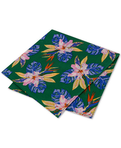 Tommy Hilfiger Men's Orchid Fond Silk Pocket Square