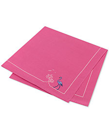Tommy Hilfiger Men's Flamingo Pride Silk Pocket Square