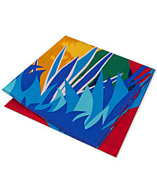 Tommy Hilfiger Men's Parakeet Pride Silk Pocket Square