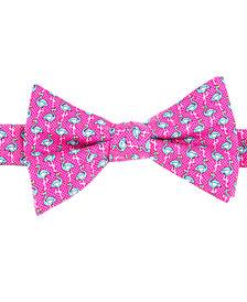 Tommy Hilfiger Men's Printed Flamingo To-Tie Silk Bow Tie