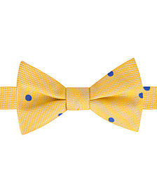 Tommy Hilfiger Men's Derby Oxford Dot To-Tie Silk Bow Tie