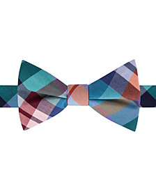 Tommy Hilfiger Men's Multi-Plaid Pre-Tied Bow Tie