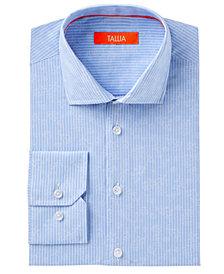 Tallia Men's Slim Fit Floral Jacquard On Pinstripe Dress Shirt