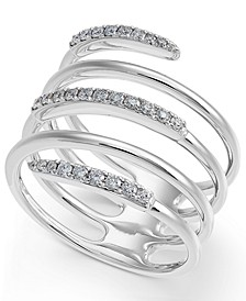 Diamond Coil Statement Ring (1/3 ct. t.w.) in 14k White Gold