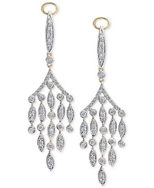 Diamond Chandelier Earrings (1-1/4 ct. t.w.) in 14k Gold & White Gold