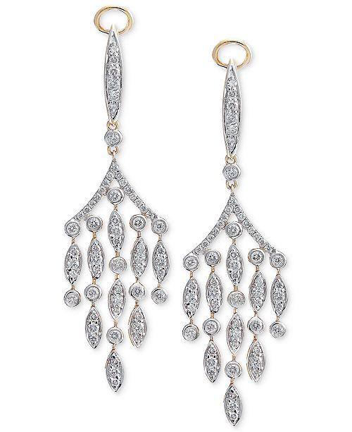 Macys diamond chandelier earrings 1 14 ct tw in 14k gold main image main image aloadofball Images