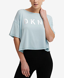 DKNY Sport Overlap-Back Cropped T-Shirt