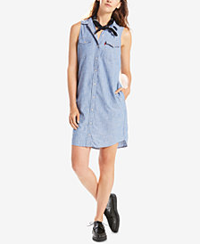 Levi's® Cotton Sleeveless Western Shirtdress