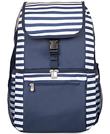 Picnic Time Zuma Navy & White Striped Cooler Backpack