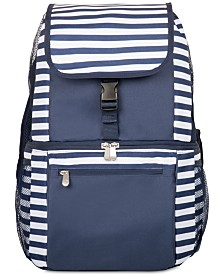 Oniva™ by Picnic Time Zuma Navy & White Striped Cooler Backpack