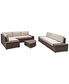 Moreno Outdoor 8-Pc. Sofa Set, Quick Ship