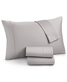 AQ Textiles Surrey Cotton 650 Thread Count 4-pc. Queen Sheet Set