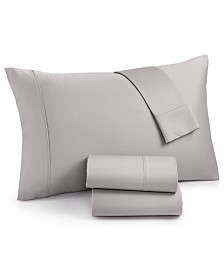 AQ Textiles Surrey 4-Pc. California King Extra Deep Sheet Set, 650 Thread Count 100% Cotton Sateen