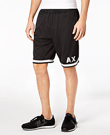 A|X Armani Exchange Men's Mesh Basketball Shorts