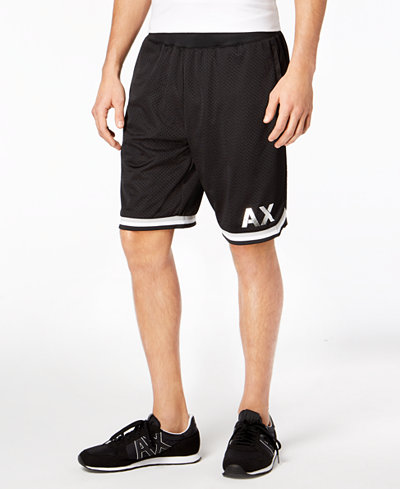 Armani Exchange Men's Mesh Basketball Shorts