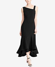 Lauren Ralph Lauren Asymmetrical Stretch Gown