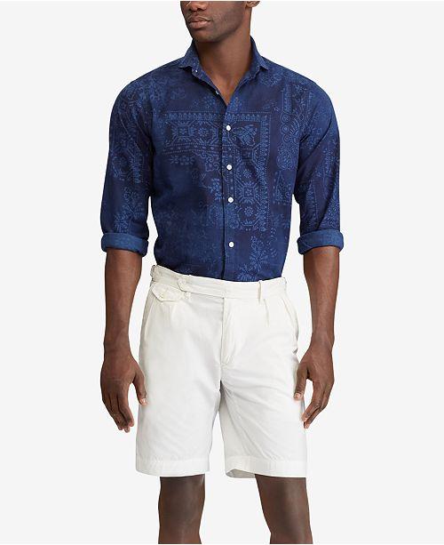 Polo Men's Classic Lauren Moroccan Fit Ralph Print Reviews Shirtamp; 76yfbg