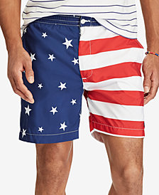 "Polo Ralph Lauren Men's 6"" Prepster American Flag Swim Trunks"