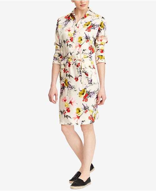 6ab60a824fcf6 Lauren Ralph Lauren Floral-Print Twill Utility Dress   Reviews ...