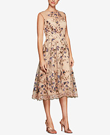 Alex Evenings Sequined Embroidered Midi Dress