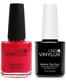 Creative Nail Design Vinylux Lobster Roll Nail Polish & Top Coat (Two Items), 0.5-oz., from PUREBEAUTY Salon & Spa