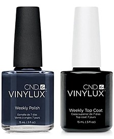 Creative Nail Design Vinylux Indigo Frock Nail Polish & Top Coat (Two Items), 0.5-oz., from PUREBEAUTY Salon & Spa