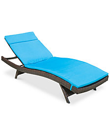 Hayden Outdoor Chaise Lounge, Quick Ship