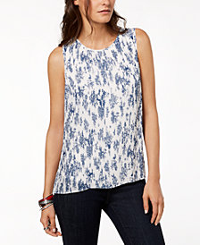 Tommy Hilfiger Pleated Top, Created for Macy's