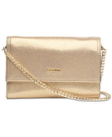 Calvin Klein Faye Leather Small Crossbody