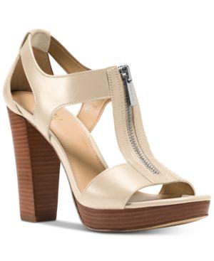 Michael Michael Kors Berkley T-Strap Platform Dress Sandals Women's Shoes 6885307