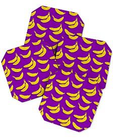 Evgenia Chuvardina Bright Bananas Coaster Set