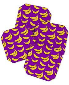 Deny Designs Evgenia Chuvardina Bright Bananas Coaster Set